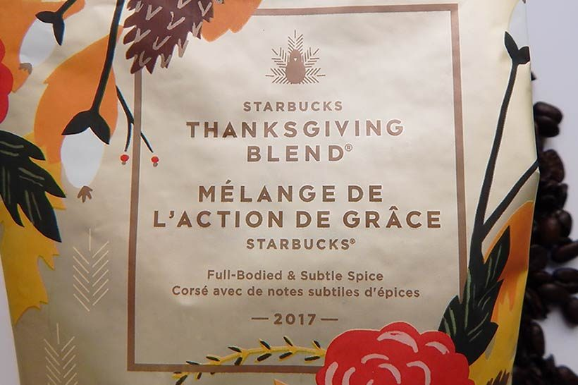 Starbucks Thanksgiving Blend 2017
